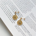 Load image into Gallery viewer, Real 925 Sterling Silver Stylish Coin Earrings