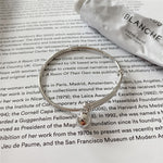 Load image into Gallery viewer, Real 925 Sterling Silver Bell Charm Bangle