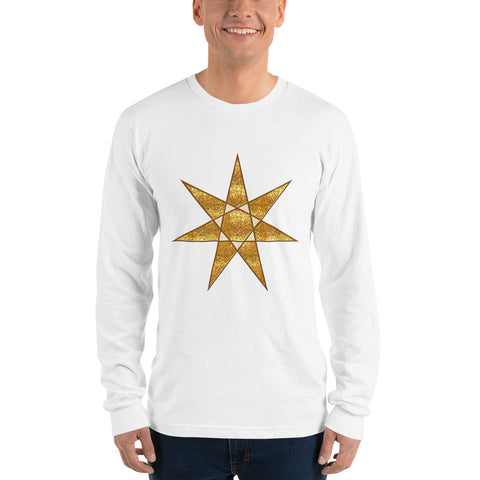 Long sleeve t-shirt Heptagram 7 pointed star like on Thrones!
