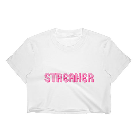 Women's Crop Top Streaker vintage tee