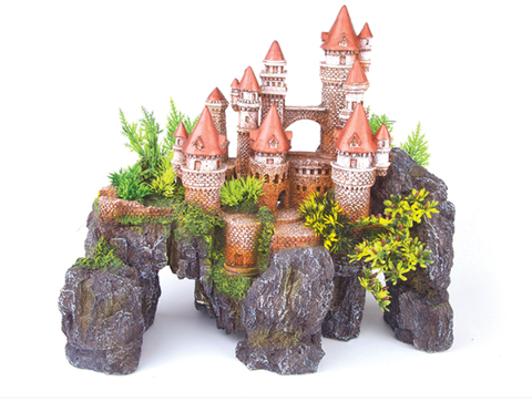 Mountain Castle W/Plants - Large