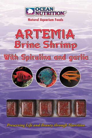 Ocean Nutrition Frozen Artemia / Brine Shrimp with garlic 100g