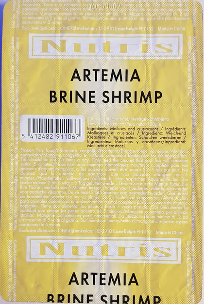 Nutris Frozen Brine Shrimp Blister Pack 100g