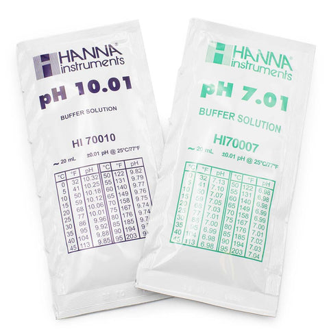 Hanna HI770710C pH 7.01 and 10.01 Calibration Buffer Sachets