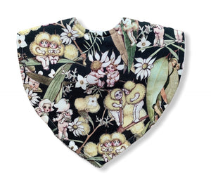 May Gibbs Gossiping Gumnuts Khaki Triangle Bib