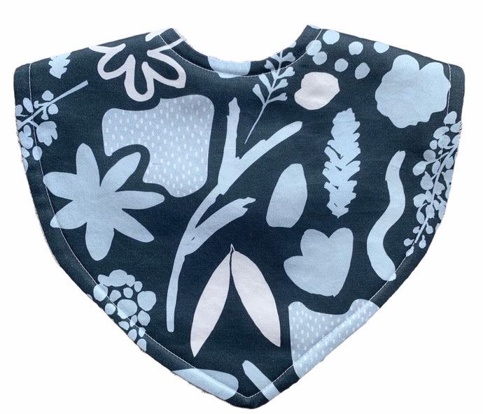 Tilda & Moo X Mosey Me Garden Party Midnight Triangle Bib