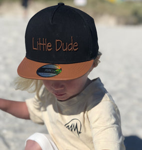 Little Dude Snapback black/tan