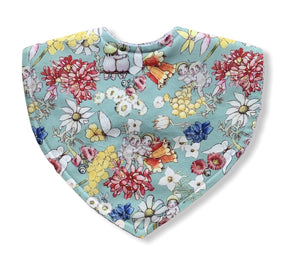 May Gibbs Gumnut Friends Green Triangle Bib