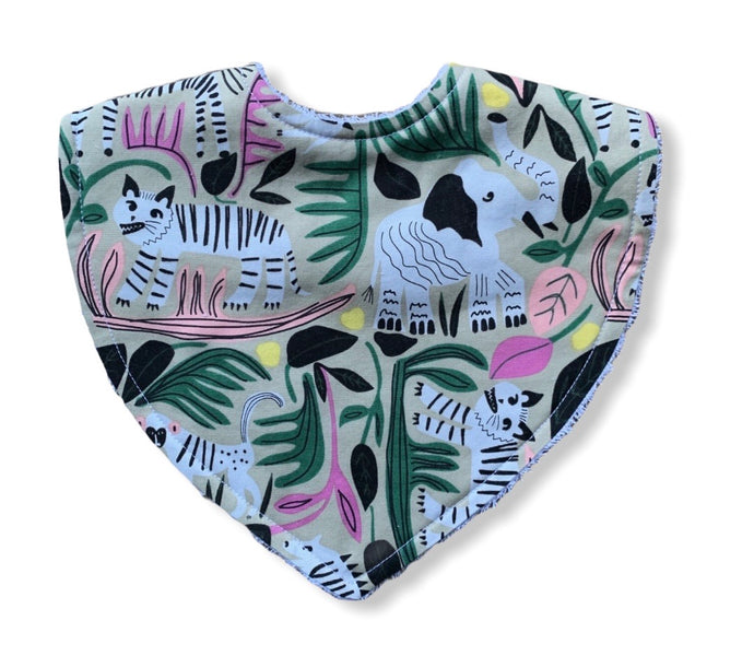 Leah Duncan Wild Tiger Organic Cotton Triangle Bib