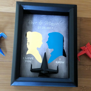 Star Wars I Love You I Know Quote X Wing 3d Shadowbox