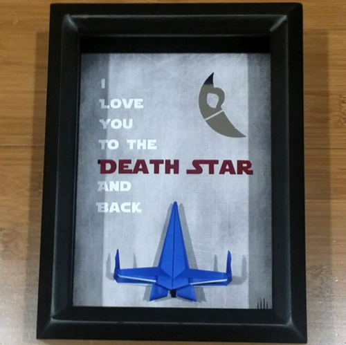 Star Wars 5X7 3D Shadowbox - I Love You To The Death Star And Back