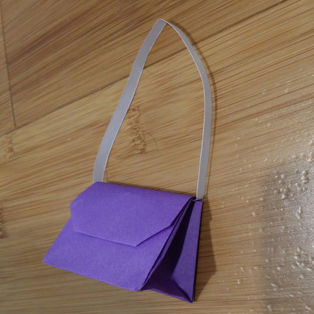 Girls Only 3d Shadowbox Origami Purse Wall Or Door Hanging Sign