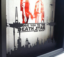 "Solo And Leia ""I Love You to the Death Star and Back"" 3D Cutout - 8X10"