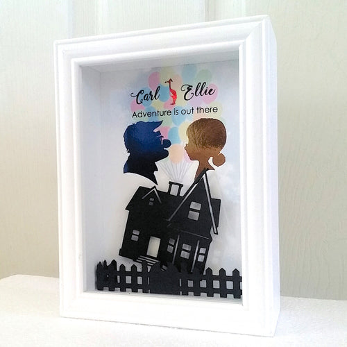 Disney Inspired Carl And Ellie Flying House 3D Shadowbox - 5X7