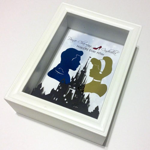Cinderella And Prince Charming 3D Shadowbox - Happily Ever After 5X7