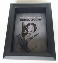 Star Wars Princess Leia Rebel Scum Father's Day, Mother's Day 3D Shadowbox - 5X7 X Wing