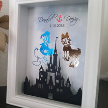 Donald And Daisy Duck 3D Shadowbox - Disney Castle 5X7