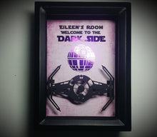 "Star Wars Personalized ""Welcome to The Dark Side"" Death Star Tie Fighter 3D Shadowbox"