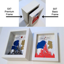 Personalized Disney Wedding Gift And Decor - 5X7 3D Shadowbox