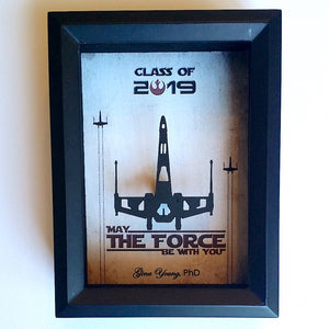 3D Graduation Gifts For Men, Women and Kids | 5X7 Floating X Wing Or Millennium Falcon | Personalize Graduation Gifts 2019