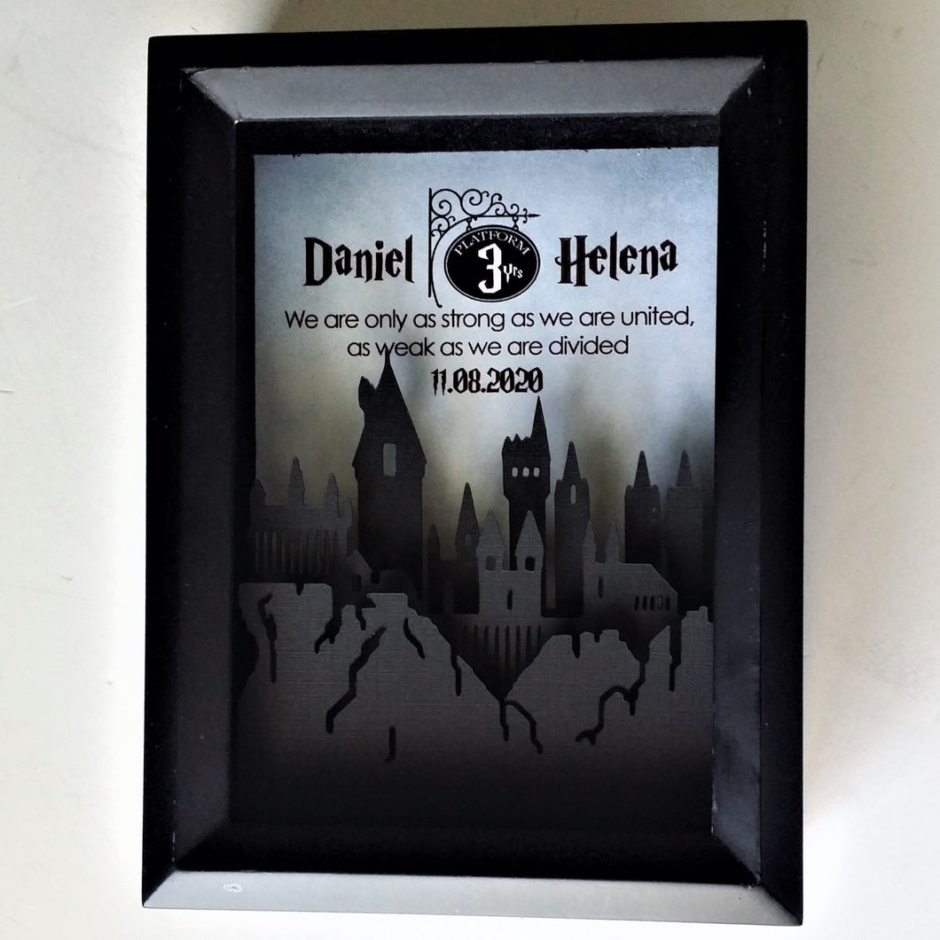 Harry Potter Inspired Couple's 3D Shadowbox | 5