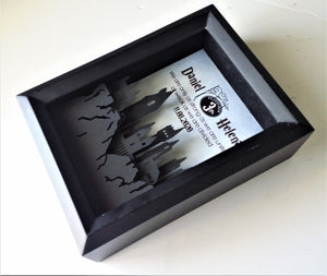"Harry Potter Inspired Couple's 3D Shadowbox | 5""X7"" Hogwart's Castle Cutout With Personalized Print"