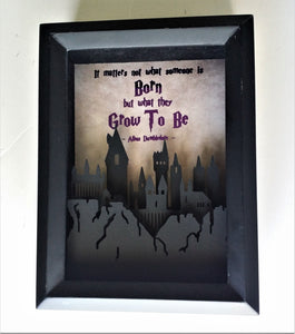"Harry Potter Quote | 5""X7"" Hogwarts 3D Shadowbox"