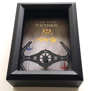 Star Wars Darth Vader Father's Day 3D Shadowbox
