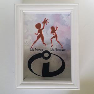 The Incredibles Mother Daughter Mother's Day 3D Shadowbox - 5X7