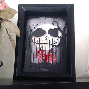 Jack Skellington Lock Shock and Barrel 3D Shadowbox