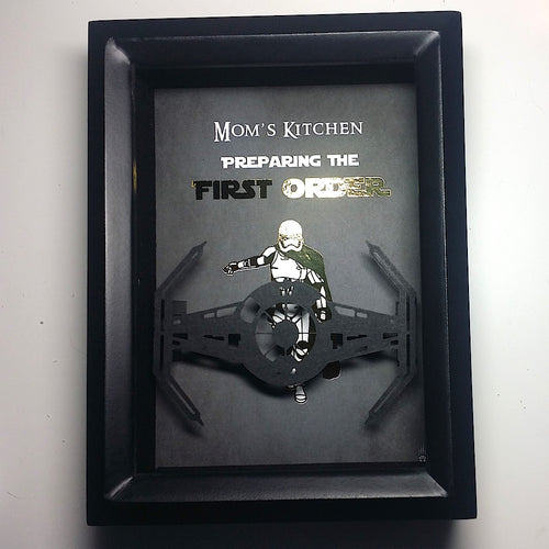 Star Wars Personalized Captain Phasma And The First Order Tie Fighter 3D Shadowbox