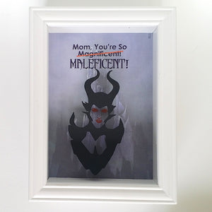 Disney's Maleficent Mother's Day 3D Shadowbox - 5X7