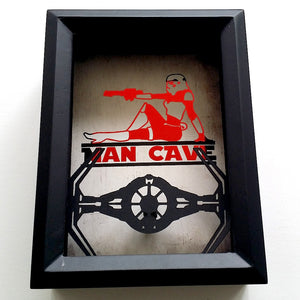 "Sexy Stormtrooper ""Man Cave"" Tie Fighter 3D Shadowbox"