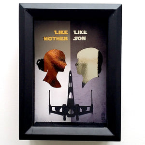 "Star Wars ""Like Mother, Like Son"" Face To Face X Wing 3D Shadowbox"