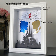 Disney's Hercules and Meg 3D Shadowbox - Disney Castle 5X7