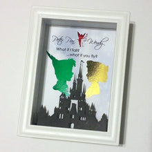 Peter Pan And Wendy 3D Shadowbox - Disney Castle 5X7