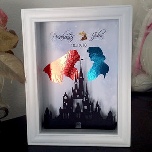 Pocahontas And John Smith 3D Shadowbox - 5X7