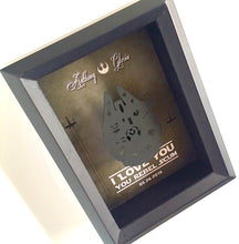 Funny Star Wars Couple 3D Shadowbox - I Love You, You Rebel Scum - 5X7 Millennium Falcon