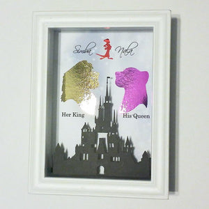 Lion King Simba And Nala 3D Shadowbox - Disney Castle 5X7