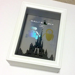 Disney's Wall-E And Eve 3D Shadowbox