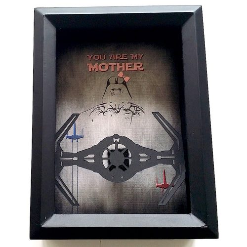 Star Wars Darth Vader Father, Mother's Day 3D Shadowbox