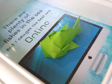 Online Dating Fish 5 X 7 3D Origami Shadowbox