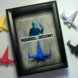 Star Wars Gifts For Dad, Gifts From Son, New Dad Gift, Dad Birthday Gift,  First Father's Day Gift From Son, 5X7 Shadowbox Frame.