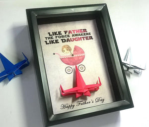 First Fathers Day Gift From Son, Baby Boy, Star Wars Fathers Day From Baby Boy, New Dad Gift, 5X7 Frame With X Wing.