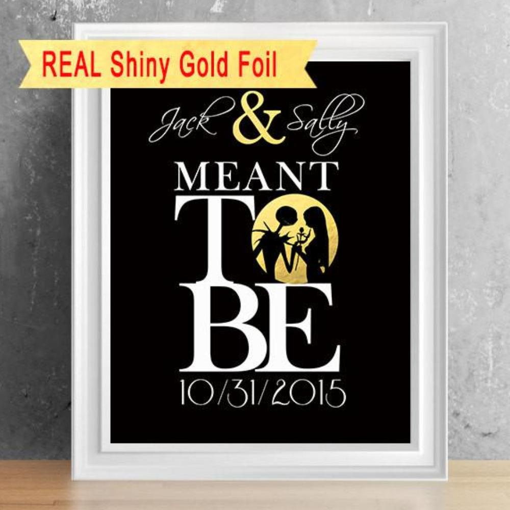 Foil Print - The Nightmare Before Christmas Wedding, Anniversary or ...