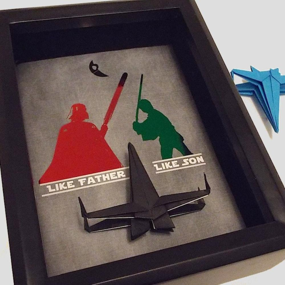 Star Wars Like Father Like Son Origami 3D Shadowbox