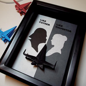 Star Wars Like Father, Like Daughter Origami Shadowbox