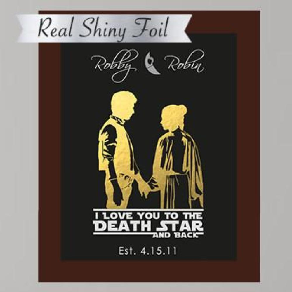 I Love You To The Death Star And Back Couple's Print