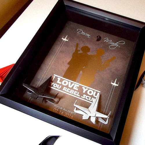 Star Wars Couples 3D Shadowbox Gift -