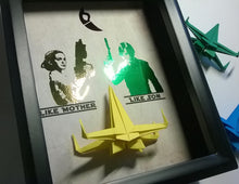 "Star Wars ""Like Mother, Like Son"" Armed Padme And Luke X Wing 3D Shadowbox"